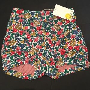 Mini Boden Floral Cord Bloomers